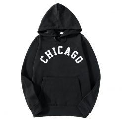 2018 New Fashion CHICAGO City Band Winter Bomber Hoodies men Jackets Casual Hip Hop Mens Hoodies