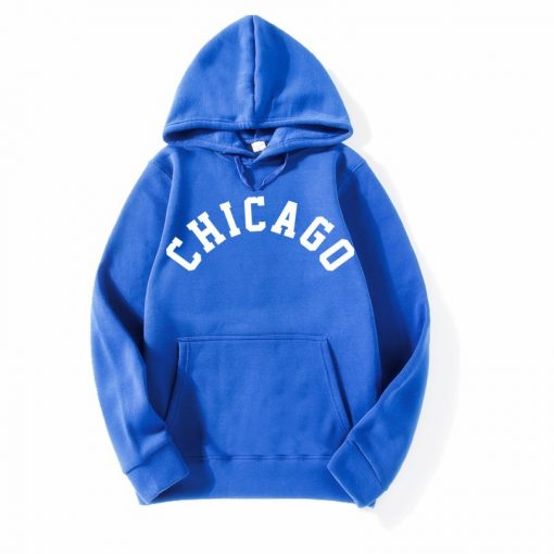2018 New Fashion CHICAGO City Band Winter Bomber Hoodies men Jackets Casual Hip Hop Mens Hoodies 5