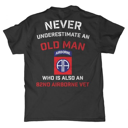2019 Fashion Free shipping Minnesota Bobs Never Underestimate An Old Man 82nd Airborne T Shirt Tee