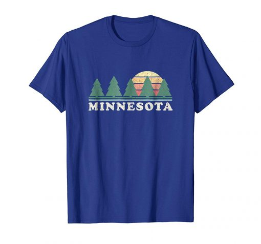2019 Fashion Men T shirt Minnesota T Shirt Vintage Graphic Retro Design 100 Cotton