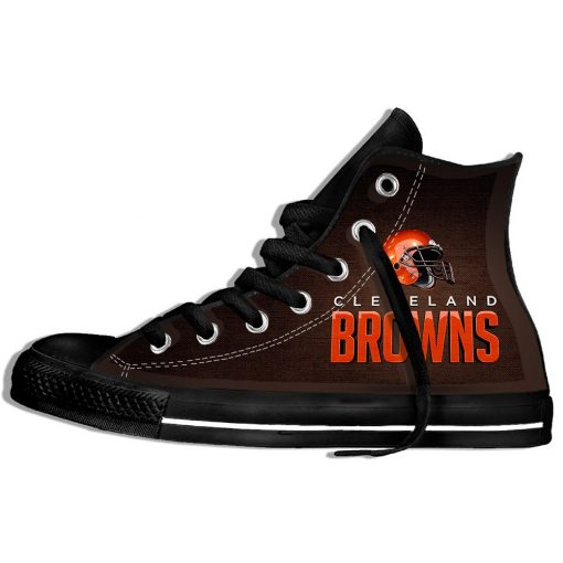 2019 Hot Fashion Printing hIgh top Sneakers Football Cleveland CB Unisex Lightweight Casual Shoes 1