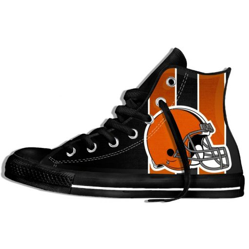 2019 Hot Fashion Printing hIgh top Sneakers Football Cleveland CB Unisex Lightweight Casual Shoes 2