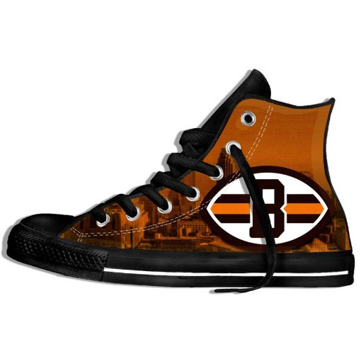 2019 Hot Fashion Printing hIgh top Sneakers Football Cleveland CB Unisex Lightweight Casual Shoes