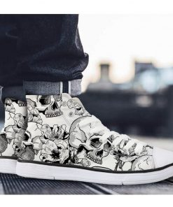 3D Suger Skull Unisex High Top Casual Canvas Sneakers