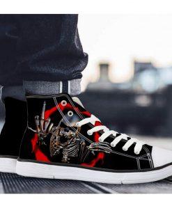 3D Suger Skull Men Women High Top Sports Shoes