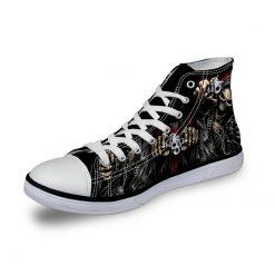 3D Suger Skull Men Women High Top Casual Canvas Shoes Sports AK19006