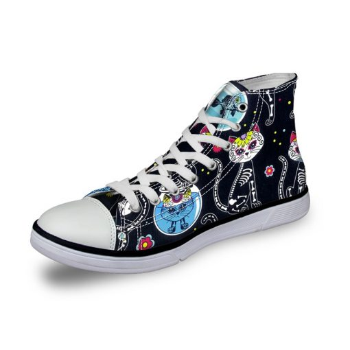 3D Suger Skull Men Women High Top Casual Canvas Shoes Sport AK19007