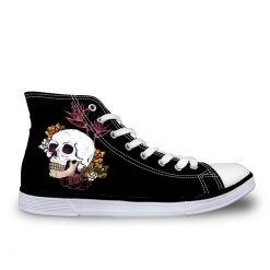 3D Suger Skull Men Women Low Top Casual Canvas Shoes Sports AK19023