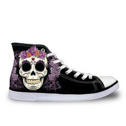 3D Suger Skull Men Women Low Top Casual Canvas Shoes Sports AK19025