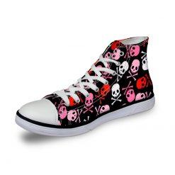 3D Suger Skull Men Women Low Top Casual Canvas Shoes Sports AK19026