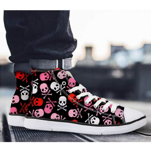 3D Suger Skull Men Women Low Top Casual Canvas Shoes Sports AK19026