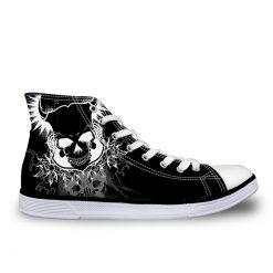3D Suger Skull Men Women Low Top Casual Canvas Shoes Sports AK19028