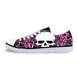 3D Suger Skull Men Women Low Top Casual Canvas Shoes Sports AP19003