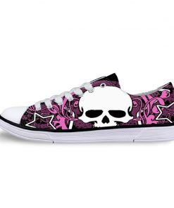 3D Suger Skull Men Women Low Top Casual Canvas Shoes Sports AP19003