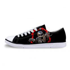 3D Suger Skull Men Women Low Top Casual Canvas Shoes Sports AP19005
