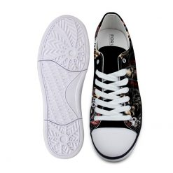 3D Suger Skull Men Women Low Top Casual Canvas Shoes Sports AP19006