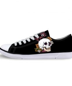 3D Suger Skull Men Women Low Top Casual Canvas Shoes Sports AP19024