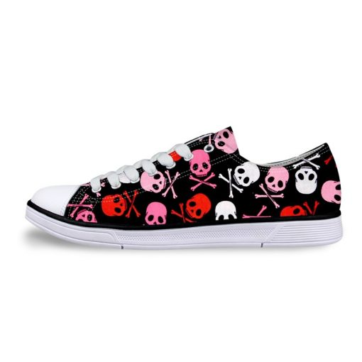 3D Suger Skull Men Women Low Top Casual Canvas Shoes Sports AP19027