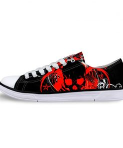 3D Suger Skull Men Women Low Top Casual Canvas Shoes Sports AP19028