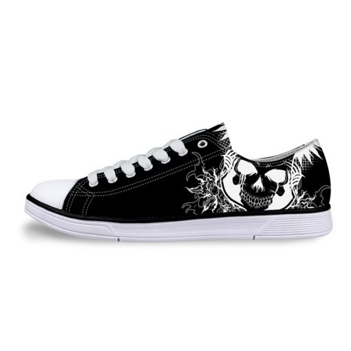 3D Suger Skull Men Women Low Top Casual Canvas Shoes Sports AP19029