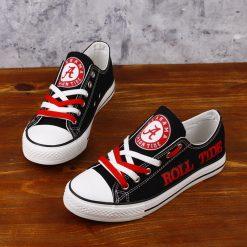 Alabama Crimson Tide Limited Low Top Canvas Shoes Sport