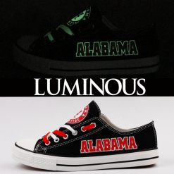 Alabama Crimson Tide Limited Luminous Low Top Canvas Sneakers