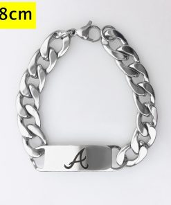 Alabama Crimson Tide Men Fashion Wristlet Stainless Steel Bracelet