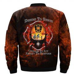 America Veterans Firefighter Bomber Jacket Men Women