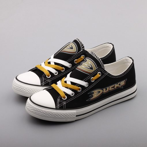 Anaheim Ducks Limited Low Top Canvas Sneakers