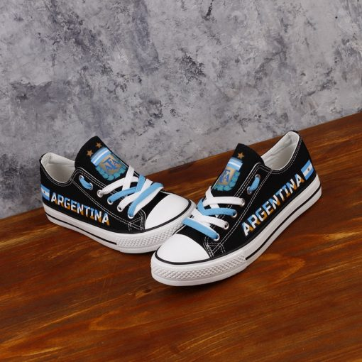 Argentina National Team Low Top Canvas Sneakers