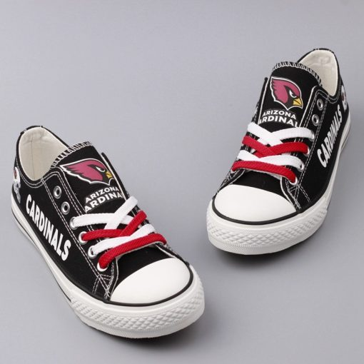 Arizona Cardinals Limited Print Low Top Canvas Sneakers