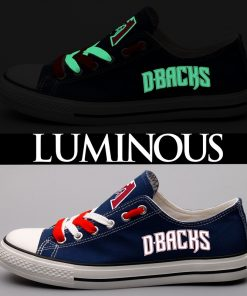 Arizona Diamondbacks Limited Luminous Low Top Canvas Sneakers
