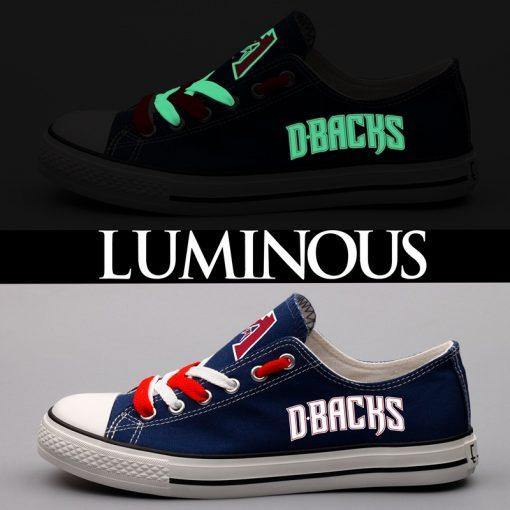 Arizona Diamondbacks Limited Luminous Low Top Canvas Sneakers