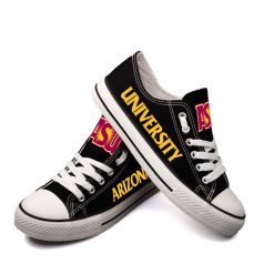 Arizona State Sun Devils Limited Fans Low Top Canvas Shoes Sport