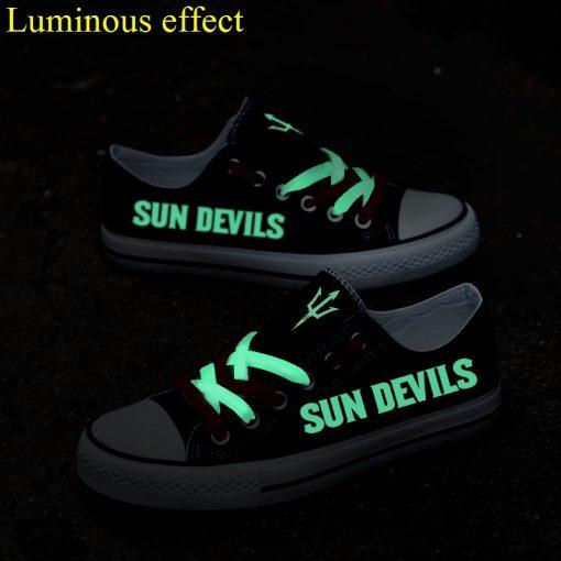 ArizonaStateSunDevils Limited Luminous Low Top Canvas Sneakers