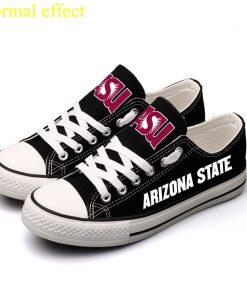 Arizona State Sun Devils Limited Luminous Low Top Canvas Shoes Sport