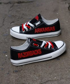 Arkansas Razorbacks Limited Low Top Canvas Sneakers