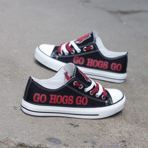 Arkansas Razorbacks Limited Low Top Canvas Shoes Sport