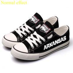 Arkansas Razorbacks Limited Luminous Low Top Canvas Sneakers