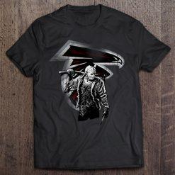 Atlanta Print T Shirt Short Sleeve O Neck Falcons Friday The 13Th Tshirts