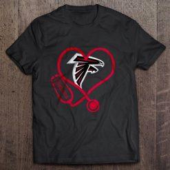 Atlanta Print T Shirt Short Sleeve O Neck Falcons Stethoscope Tshirts