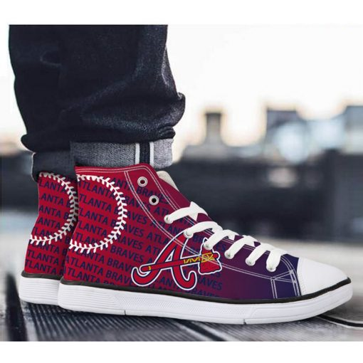 Atlanta Braves Lace-Up Sport Sneakers