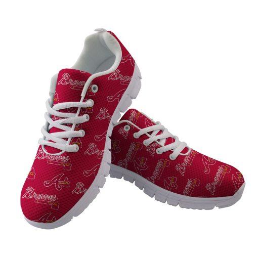 Atlanta Braves Custom Running Sneakers Shoes