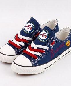 Atlanta Braves Limited MLB Baseball Low Top Canvas Sneakers