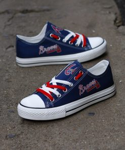 Atlanta Braves Limited Low Top Canvas Shoes Sport Sneakers