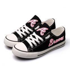 Atlanta Braves Limited Luminous Low Top Canvas Shoes Sport
