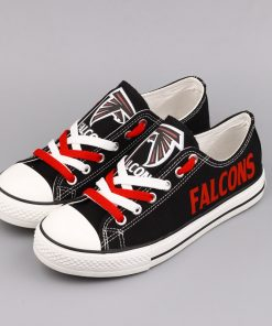Atlanta Falcons Limited Print Fans Low Top Canvas Sneakers