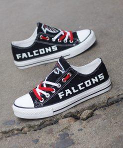 Atlanta Falcons Limited Print Luminous Low Top Canvas Sneakers