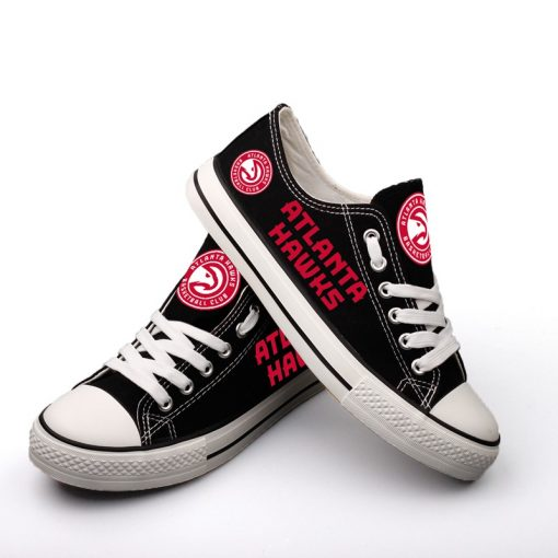 Atlanta Hawks Low Top Canvas Sneakers