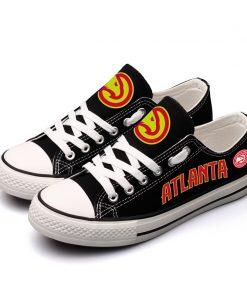 Atlanta Hawks Low Top Canvas Shoes Sport